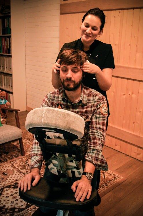 Massage amma assis entreprise Lorient